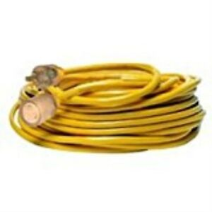 Yellow Jacket 2992 20 amp Generator Cord With T blade 5 20 Lighted Ends 100 feet