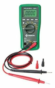 Greenlee Dm 45 Catiii 600v Auto Ranging Digital Multimeter