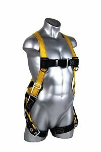 Guardian Fall Protection 1703 Velocity Economy Harness Huv Pass Thru Chest And T