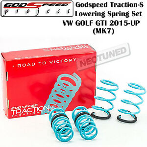 Godspeed Traction S Lowering Springs Suspension Set For Vw Golf Gti 2015 Up Mk7