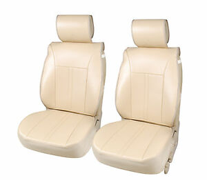 2 Pu Leather Car Seat Covers Cushion Compatible To Lexus 1209a Tan