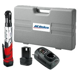 Acdelco Arw1201 Li ion 12 volt 3 8 inch Ratchet Wrench Kit 57 Ft lbs