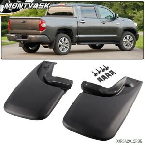 2pc For 2005 2015 Toyota Tacoma Mud Flaps Mud Guards Splash Guards Rear Molded