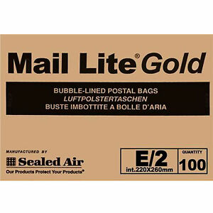 Lot 100 Bags Padded Bubble 8 11 16x10 3 16in Mail Lite Brown Paper Kraft Box