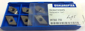 6 Grooving Inserts Prick F91 097262 P30 Of Wohlhaupter New H11983
