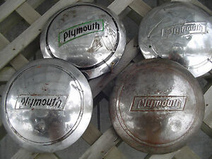 Plymouth Dodge Coupe Sedan Fury Max Wedge Belvedere Dogdish Hubcaps Wheel Cover