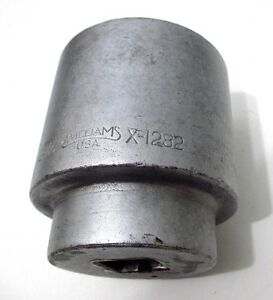 2 9 16 Hand Socket Williams X 1282 1 Dr 12 Point 1282 Made In Usa
