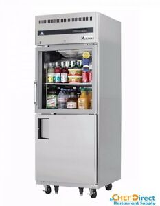 Everest Egsh2 One Section Glass solid Half Door Upright Reach in Refrigerator