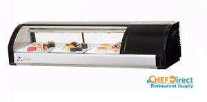 Everest Esc47r 47 1 4 Right Compressor Curved Glass Refrigerated Sushi Case