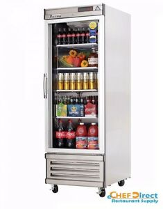 Everest Ebgr1 27 One Section Glass Door Upright Reach in Refrigerator