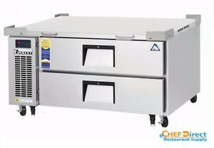 Everest Ecb48d2 48 3 8 One Section Two Drawer Side Mount Refrigerated Chef Base