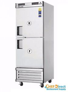 Everest Ebwrfh2 Upright Reach in Dual Temp Refrigerator freezer Combo
