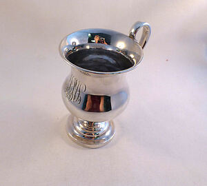 Coin Silver Jacob Libby Boston Ca 1820 1846 Large Footed Cup
