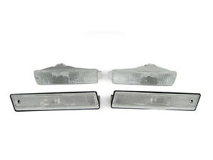 Clear Bumper Signal fender Side Marker Light For 90 92 Vw Golf Gti Jetta Mk2 Ii
