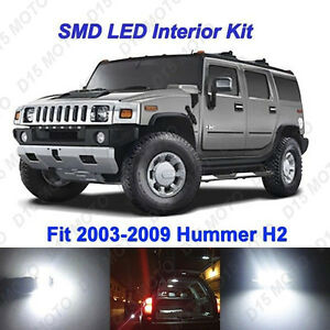 20 X White Led Interior Bulbs Fog Reverse Tag Lights For 2003 2009 Hummer H2