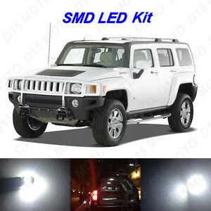18 X White Led Interior Bulbs Fog Reverse Tag Lights For 2005 2010 Hummer H3