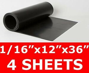 4 Sheets 1 16 Thick Neoprene Rubber Sheet 12 X 36 Long Smooth Free Ship
