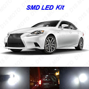 20 X Ultra White Led Interior Bulbs Fog Reverse Lights For 2014 2015 Lexus Is250