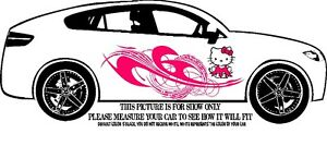 Hello Kitty Decal Graphic Vinyl W Tribal Design For Side Of Car Or Truck