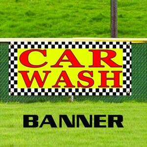 Car Wash Advertising Business Auto Detailing Wax Vinyl Banner Sign Made In Usa
