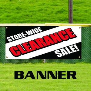 Store wide Clearance Sale Advertising Vinyl Banner Sign Retail Mega Discounts