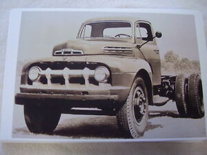 1951 Ford Truck F7 Cab An Chassis 11 X 17 Photo Picture