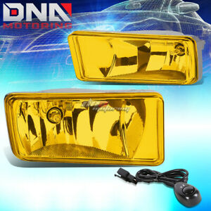 Amber Lens Bumper Fog Lights Switch For 07 15 Chevy Silverado Tahoe Suburban