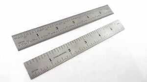Taytools 6 Machinist Ruler Rule Scale 4r 1 8 1 16 1 32 1 64 Stainless
