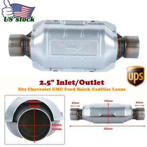 Catalytic Converter Universal 2 5 Oval High flow Cat Inlet outlet 10 Body
