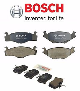 For Vw Quantum Golf Jetta 84 98 Pair Set Of Front Rear Brake Pad Set Bosch Qc