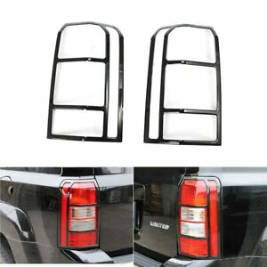 2 Black Tail Lamp Light Frame Protection Cover Decor For Jeep Patriot 2011 2017