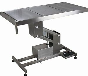 Ft 854 Stainless Steel Electric Lift Veterinary Operating Surgical Table