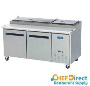 Arctic Air App71r 71 Two Door Pizza Prep Refrigerator Table