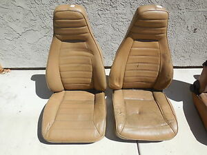 Porsche 911 930 Front Seats Left And Right Fl 1