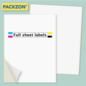 500 Shipping Labels Full Sheet 8 5x11 Self Adhesive Packzon