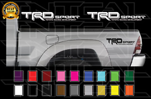 Trd Sport Decals Toyota Tacoma Racing Truck Bed Vinyl Stickers X2 2006 2011