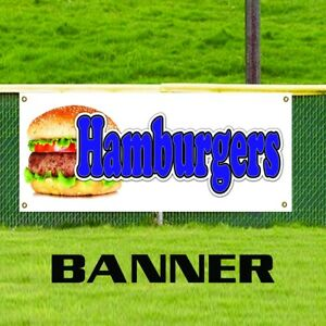 Hamburgers Food And Drink Advertising Promotion Vinyl Banner Sign