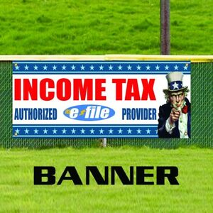 Income Tax Authorized E file Provider Advertising Vinyl Banner Business Sign