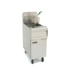 Frymaster Mj150 50lb Gas Deep Fryer Floor Model W Stainless Ends 122k Btu