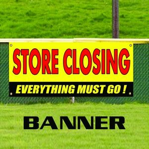 Store Closing Everything Must Go Advertising Vinyl Clearance Sale Banner Sign