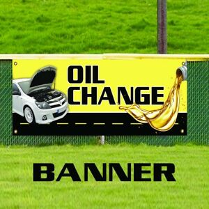 Oil Change Business Advertising Vinyl Banner Sign Car Shop Auto Mechanic Repairs