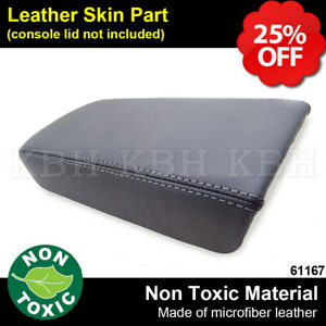 Leather Armrest Center Box Console Lid Cover For Honda Accord 2003 2007 Gray