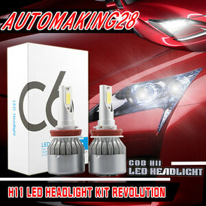Led Headlight Conversion Light Kit Low Beam Bulbs For 2008 2016 Nissan Rogue
