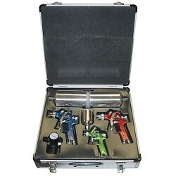 Titan 19221 4 Piece Hvlp Spray Gun Kit With Aluminum Case