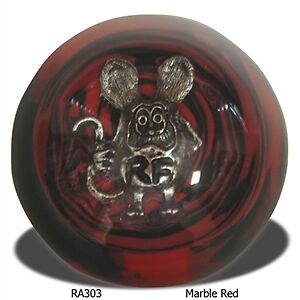 Rat Fink Marble Red Shift Knob Hot Rod Gasser Chopper Suicide Jockey Ra303rdbk