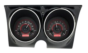 1967 67 1968 68 Camaro Firebird Dakota Digital Carbon Fiber Red Vhx Gauge Set