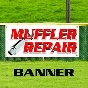 Muffler Repair Banner Business Promotion Sign Brake Shop Auto Oil Change Tire