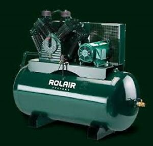Rolair 7 5hp Single Or 3 Phase Constant Run Electric Air Compressor W 60 Gallon