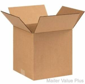 25 10 X 10 X 10 Shipping Boxes Packing Moving Storage Cartons Mailing Box
