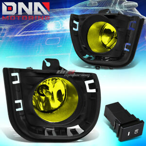 For 14 Scion Tc Yellow Tinted Oe Fog Light Bulb Bumper Vent Bezel Grille Switch